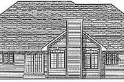 Traditional Style House Plan - 3 Beds 2 Baths 1802 Sq/Ft Plan #70-209 Exterior - Rear Elevation