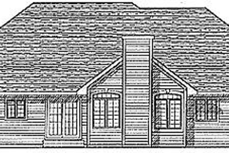 Traditional Exterior - Rear Elevation Plan #70-209 - Houseplans.com