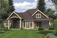 Craftsman Exterior - Rear Elevation Plan #48-615