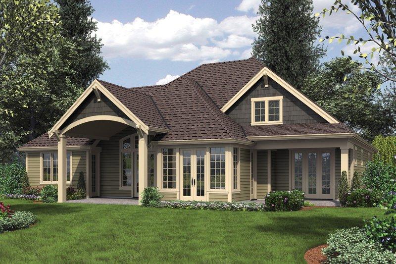 Craftsman Exterior - Rear Elevation Plan #48-615 - Houseplans.com