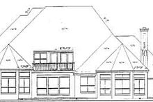 European Exterior - Rear Elevation Plan #52-125