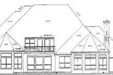 Architectural House Design - European Exterior - Rear Elevation Plan #52-125