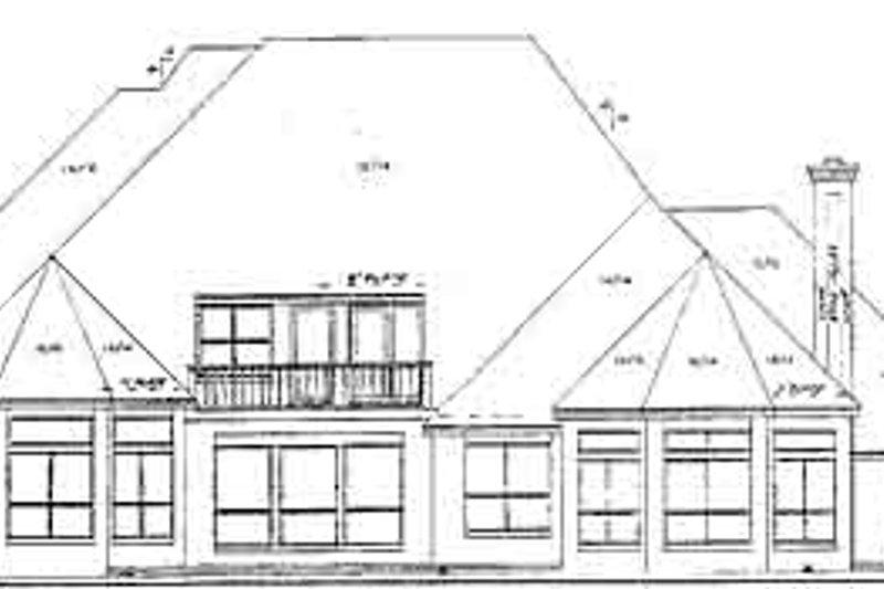 European Exterior - Rear Elevation Plan #52-125 - Houseplans.com