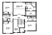 Traditional Floor Plan - Upper Floor Plan Plan #320-498