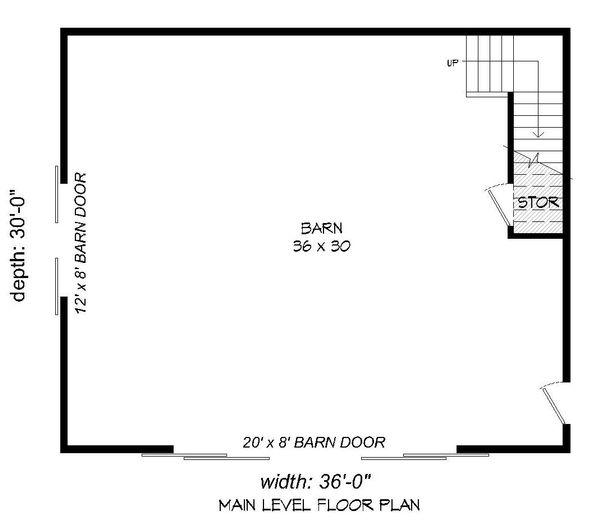 Southern Floor Plan - Main Floor Plan #932-106