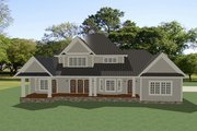 Craftsman Style House Plan - 4 Beds 3.5 Baths 2910 Sq/Ft Plan #898-52 Exterior - Rear Elevation