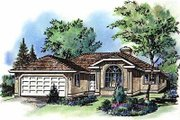 Traditional Style House Plan - 3 Beds 2 Baths 1583 Sq/Ft Plan #18-110 Exterior - Front Elevation