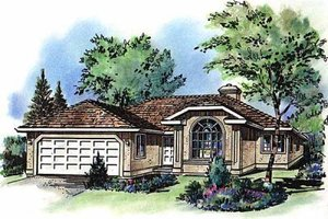 Traditional Exterior - Front Elevation Plan #18-110
