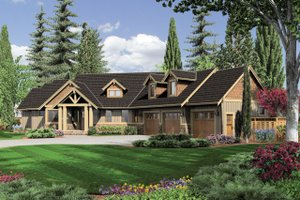 Craftsman Exterior - Front Elevation Plan #48-517