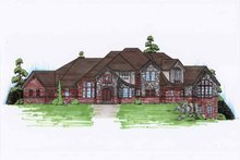 Home Plan - Traditional Exterior - Front Elevation Plan #5-450