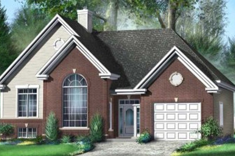 European Style House Plan - 2 Beds 1 Baths 1243 Sq/Ft Plan #25-4132 Exterior - Front Elevation