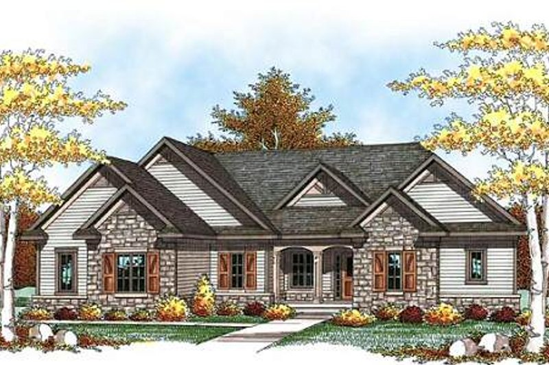 Dream House Plan - Traditional Exterior - Front Elevation Plan #70-937