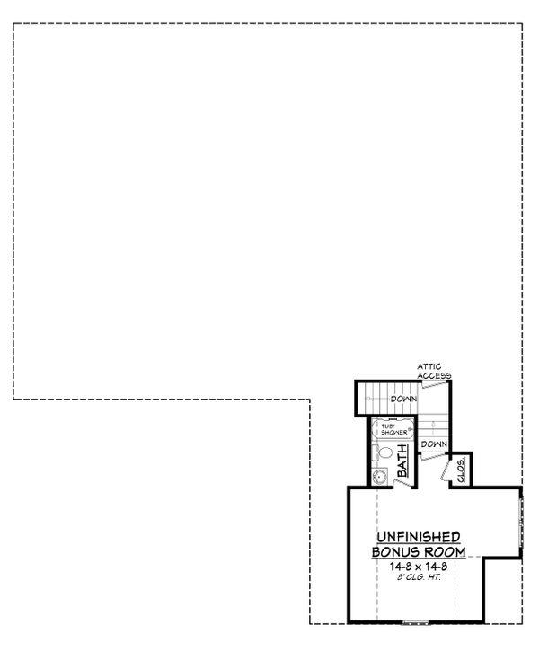 Craftsman Floor Plan - Upper Floor Plan Plan #430-140