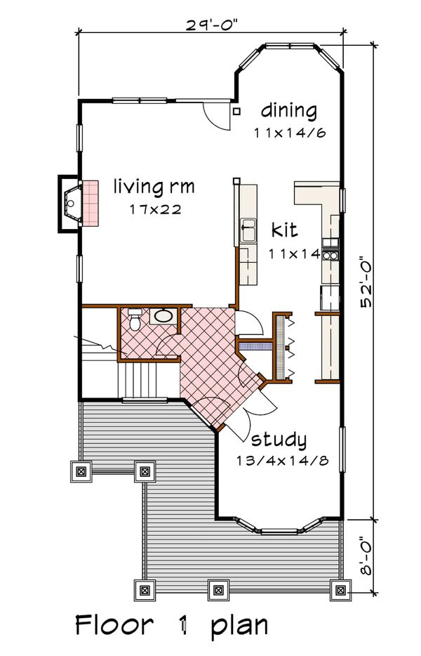 Dream House Plan - Country Floor Plan - Main Floor Plan #79-262
