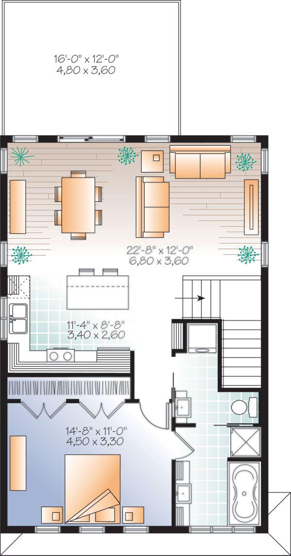 House Plan Design - Modern Floor Plan - Upper Floor Plan #23-2710