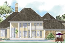 Classical Exterior - Rear Elevation Plan #930-269