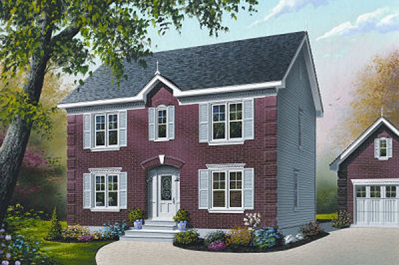 Home Plan - Colonial Exterior - Front Elevation Plan #23-730