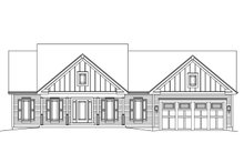 Architectural House Design - Ranch Exterior - Front Elevation Plan #57-639