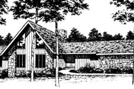 Modern Exterior - Front Elevation Plan #10-247