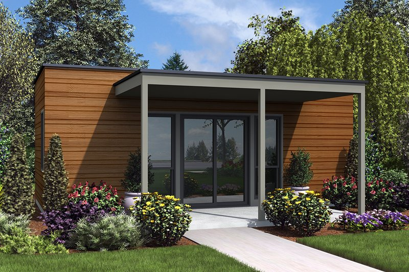 Dream House Plan - Contemporary Exterior - Front Elevation Plan #48-953