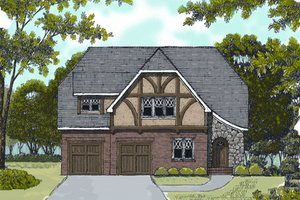 Home Plan - European Exterior - Front Elevation Plan #413-806