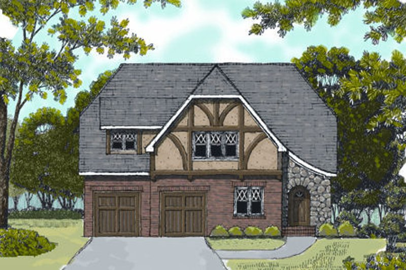 European Exterior - Front Elevation Plan #413-806 - Houseplans.com