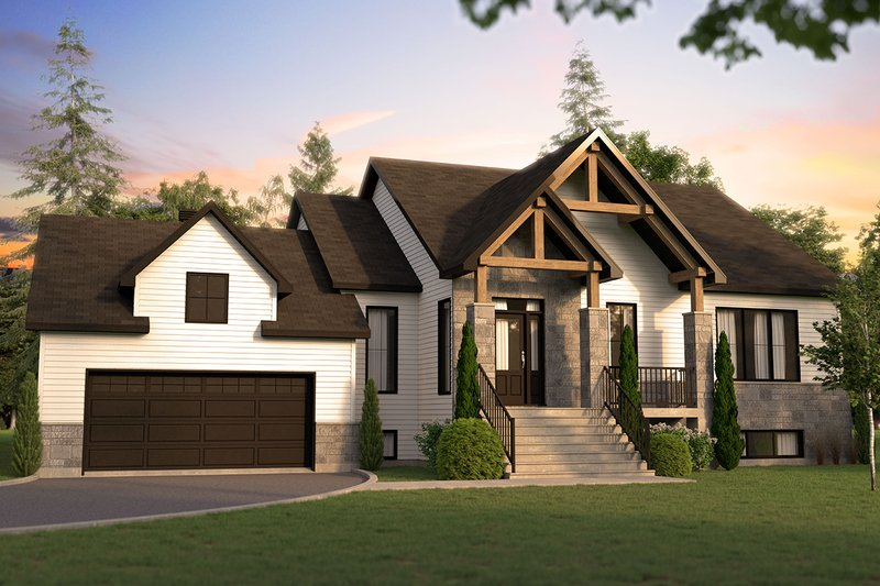 Home Plan - Farmhouse Exterior - Front Elevation Plan #23-2729