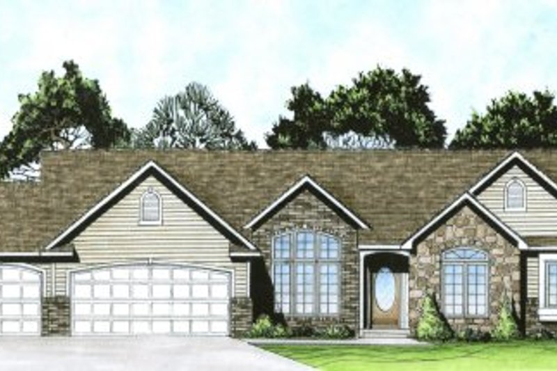 Traditional Exterior - Front Elevation Plan #58-166 - Houseplans.com