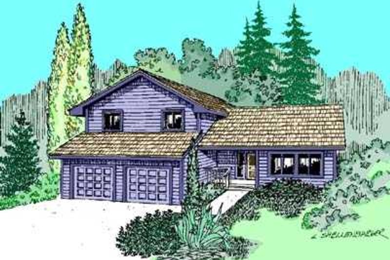 Traditional Exterior - Front Elevation Plan #60-476 - Houseplans.com