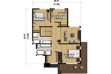 Modern Floor Plan - Upper Floor Plan Plan #25-4415