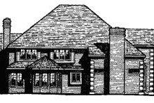 House Plan Design - European Exterior - Rear Elevation Plan #20-1178