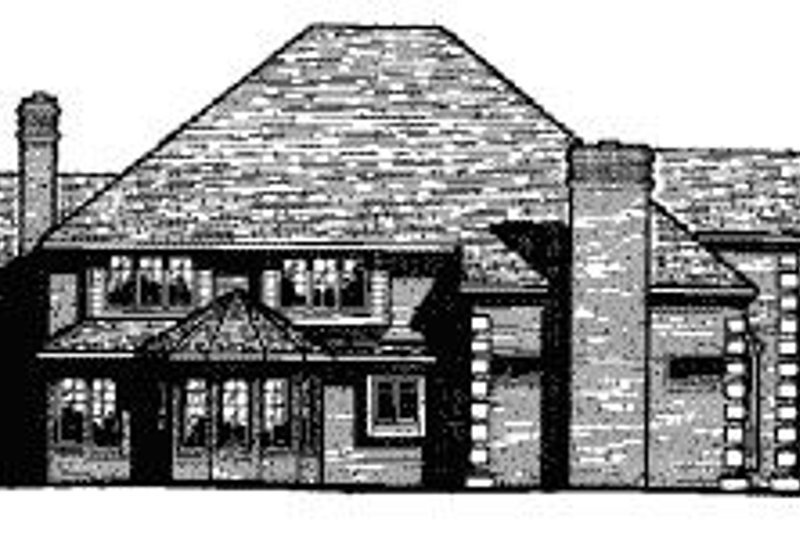 European Exterior - Rear Elevation Plan #20-1178 - Houseplans.com