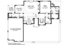 Traditional Floor Plan - Main Floor Plan Plan #70-1182