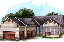 Architectural House Design - Craftsman Exterior - Other Elevation Plan #70-1040