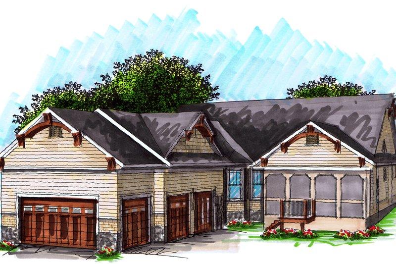 Craftsman Exterior - Other Elevation Plan #70-1040 - Houseplans.com