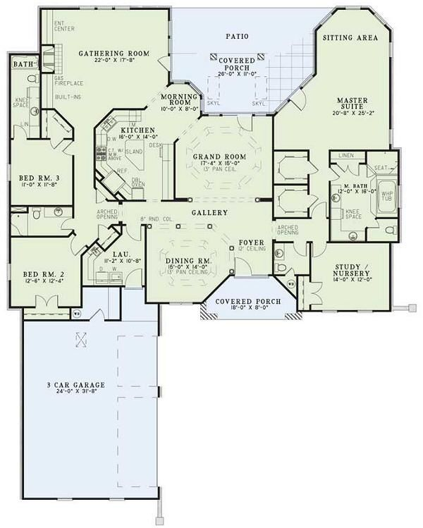 Southern Floor Plan - Main Floor Plan Plan #17-112