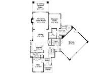 Contemporary Floor Plan - Main Floor Plan Plan #124-1112