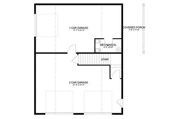 Traditional Floor Plan - Main Floor Plan #1060-97