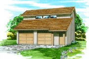 Modern Style House Plan - 0 Beds 0 Baths 992 Sq/Ft Plan #47-509 Exterior - Front Elevation