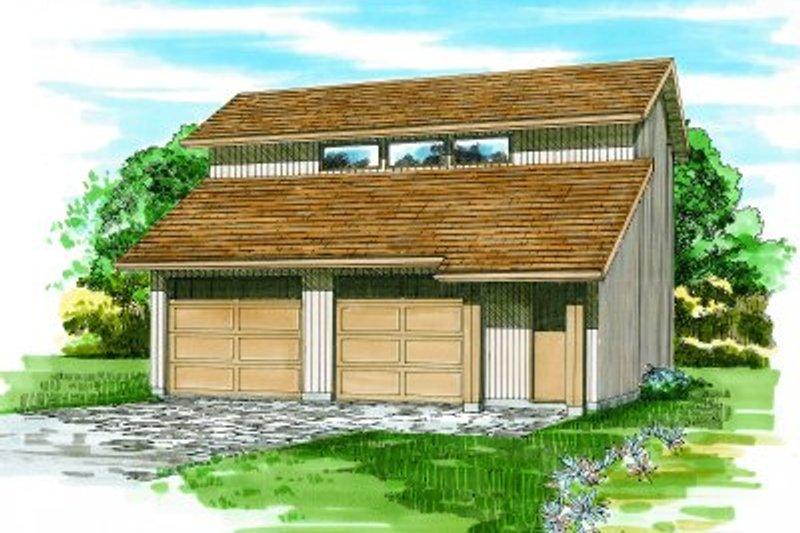 Modern Exterior - Front Elevation Plan #47-509
