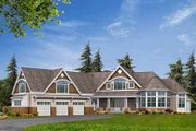 Craftsman Style House Plan - 4 Beds 4.5 Baths 5180 Sq/Ft Plan #132-177 Exterior - Front Elevation