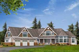Craftsman Exterior - Front Elevation Plan #132-177