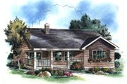 Ranch Style House Plan - 3 Beds 1 Baths 901 Sq/Ft Plan #18-1046