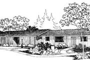 Modern Style House Plan - 2 Beds 1.5 Baths 1872 Sq/Ft Plan #303-149 Exterior - Front Elevation