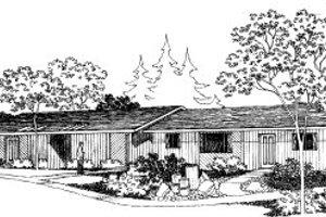 Modern Exterior - Front Elevation Plan #303-149