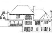 European Style House Plan - 4 Beds 4.5 Baths 4399 Sq/Ft Plan #54-104 Exterior - Rear Elevation