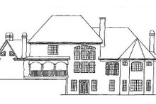 European Exterior - Rear Elevation Plan #54-104