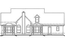 Southern Exterior - Rear Elevation Plan #20-254