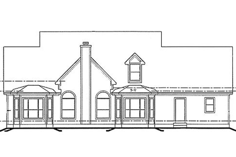 Southern Exterior - Rear Elevation Plan #20-254 - Houseplans.com