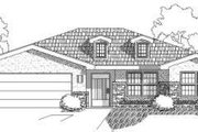 Adobe / Southwestern Style House Plan - 3 Beds 2 Baths 1439 Sq/Ft Plan #24-217 Exterior - Front Elevation